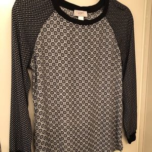 Extremely comfortable loft long sleeve blouse